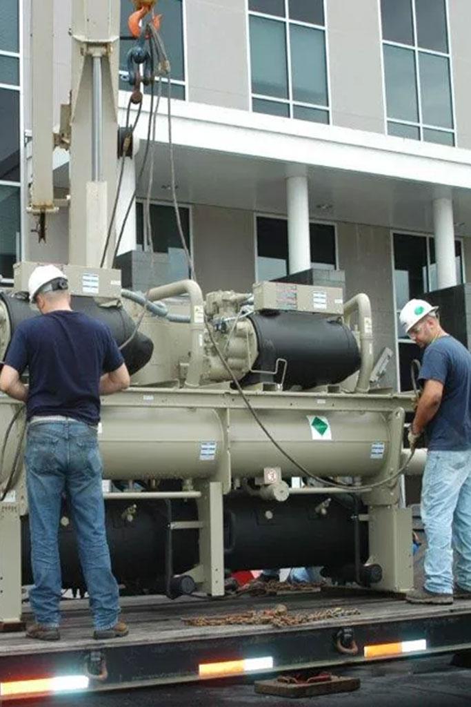 Engineers Checking the machine