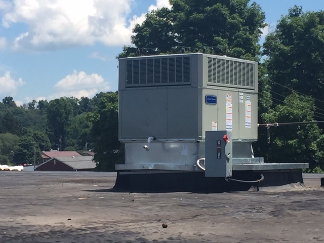 Installation of 3-ton Rooftop Unit