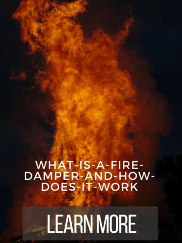 What is a fire damper and how does it work