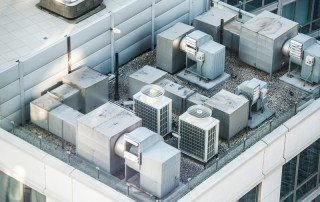 Exhaust Fans and HVAC on roof